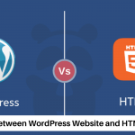 Different between WordPress Website and html website